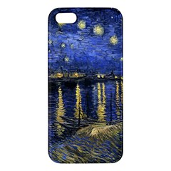 Vincent Van Gogh Starry Night Over The Rhone Apple Iphone 5 Premium Hardshell Case by MasterpiecesOfArt