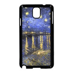 Vincent Van Gogh Starry Night Over The Rhone Samsung Galaxy Note 3 Neo Hardshell Case (black) by MasterpiecesOfArt