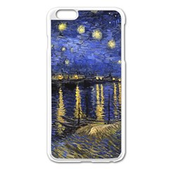 Vincent Van Gogh Starry Night Over The Rhone Apple Iphone 6 Plus/6s Plus Enamel White Case by MasterpiecesOfArt