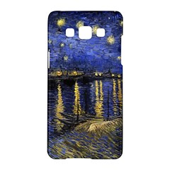 Vincent Van Gogh Starry Night Over The Rhone Samsung Galaxy A5 Hardshell Case  by MasterpiecesOfArt