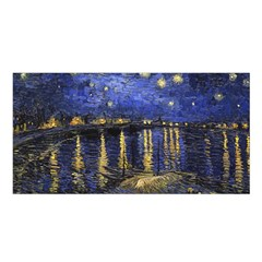 Vincent Van Gogh Starry Night Over The Rhone Satin Shawl by MasterpiecesOfArt