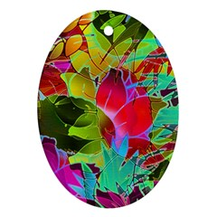 Floral Abstract 1 Ornament (oval)  by MedusArt