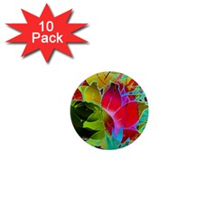 Floral Abstract 1 1  Mini Magnet (10 Pack)  by MedusArt