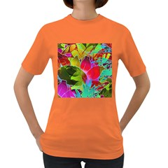Floral Abstract 1 Women s Dark T Shirt by MedusArt