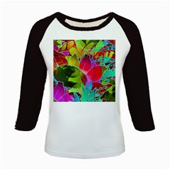 Floral Abstract 1 Kids Baseball Jerseys by MedusArt