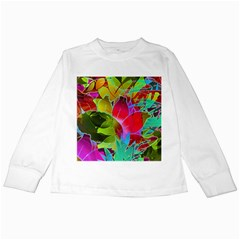 Floral Abstract 1 Kids Long Sleeve T Shirts by MedusArt