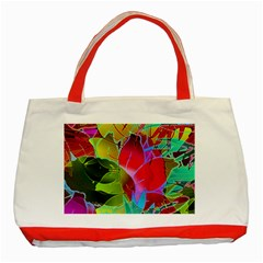 Floral Abstract 1 Classic Tote Bag (red)  by MedusArt