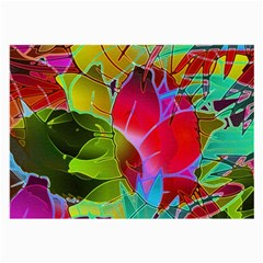 Floral Abstract 1 Large Glasses Cloth (2-side) by MedusArt