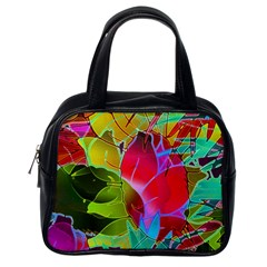 Floral Abstract 1 Classic Handbags (one Side) by MedusArt