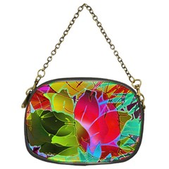 Floral Abstract 1 Chain Purses (one Side)  by MedusArt
