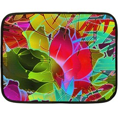 Floral Abstract 1 Double Sided Fleece Blanket (mini)