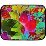 Floral Abstract 1 Double Sided Fleece Blanket (Mini)  35 x27 Blanket Back