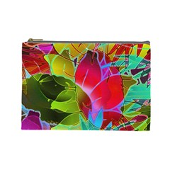 Floral Abstract 1 Cosmetic Bag (large)  by MedusArt