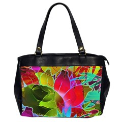 Floral Abstract 1 Office Handbags (2 Sides)  by MedusArt