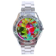 Floral Abstract 1 Stainless Steel Men s Watch by MedusArt