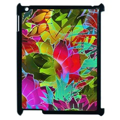 Floral Abstract 1 Apple Ipad 2 Case (black) by MedusArt