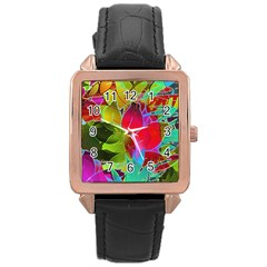 Floral Abstract 1 Rose Gold Watches by MedusArt