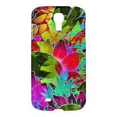 Floral Abstract 1 Samsung Galaxy S4 I9500/i9505 Hardshell Case by MedusArt