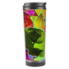 Floral Abstract 1 Travel Tumblers by MedusArt