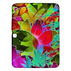 Floral Abstract 1 Samsung Galaxy Tab 3 (10 1 ) P5200 Hardshell Case  by MedusArt