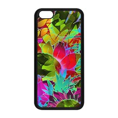 Floral Abstract 1 Apple Iphone 5c Seamless Case (black) by MedusArt