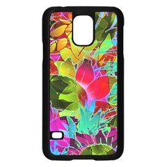 Floral Abstract 1 Samsung Galaxy S5 Case (black) by MedusArt