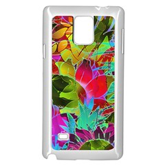 Floral Abstract 1 Samsung Galaxy Note 4 Case (white) by MedusArt