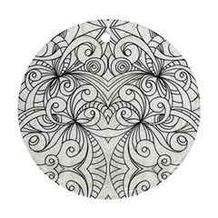 Drawing Floral Doodle 1 Ornament (round)  by MedusArt