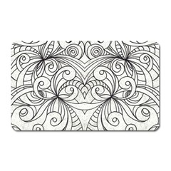 Drawing Floral Doodle 1 Magnet (rectangular) by MedusArt