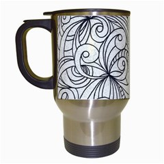 Drawing Floral Doodle 1 Travel Mugs (white) by MedusArt