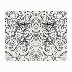 Drawing Floral Doodle 1 Small Glasses Cloth (2 Side) by MedusArt