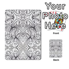 Drawing Floral Doodle 1 Multi Purpose Cards (rectangle)  by MedusArt
