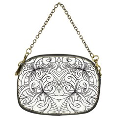 Drawing Floral Doodle 1 Chain Purses (one Side)  by MedusArt
