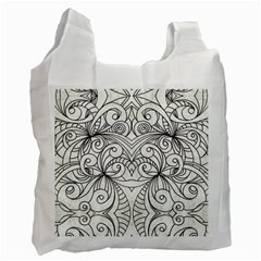 Drawing Floral Doodle 1 Recycle Bag (one Side) by MedusArt