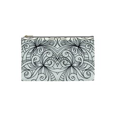 Drawing Floral Doodle 1 Cosmetic Bag (small)  by MedusArt