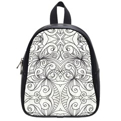 Drawing Floral Doodle 1 School Bags (small)  by MedusArt