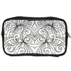 Drawing Floral Doodle 1 Toiletries Bags 2 Side by MedusArt