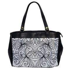 Drawing Floral Doodle 1 Office Handbags by MedusArt