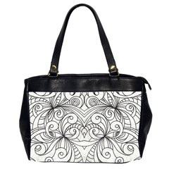Drawing Floral Doodle 1 Office Handbags (2 Sides)  by MedusArt