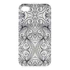 Drawing Floral Doodle 1 Apple Iphone 4/4s Hardshell Case by MedusArt