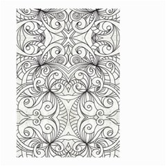 Drawing Floral Doodle 1 Small Garden Flag (two Sides) by MedusArt