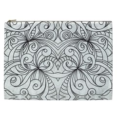 Drawing Floral Doodle 1 Cosmetic Bag (xxl)  by MedusArt