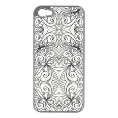 Drawing Floral Doodle 1 Apple Iphone 5 Case (silver) by MedusArt