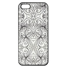 Drawing Floral Doodle 1 Apple Iphone 5 Seamless Case (black) by MedusArt