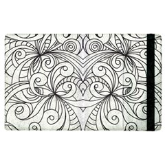Drawing Floral Doodle 1 Apple Ipad 2 Flip Case by MedusArt