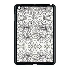 Drawing Floral Doodle 1 Apple Ipad Mini Case (black) by MedusArt
