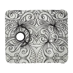 Drawing Floral Doodle 1 Samsung Galaxy S  Iii Flip 360 Case by MedusArt