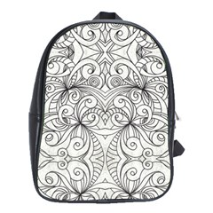 Drawing Floral Doodle 1 School Bags (xl)  by MedusArt