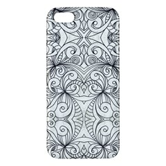 Drawing Floral Doodle 1 Apple Iphone 5 Premium Hardshell Case by MedusArt