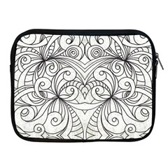 Drawing Floral Doodle 1 Apple Ipad 2/3/4 Zipper Cases by MedusArt